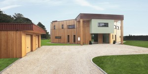 The completed Solar House, in Leicestershire.